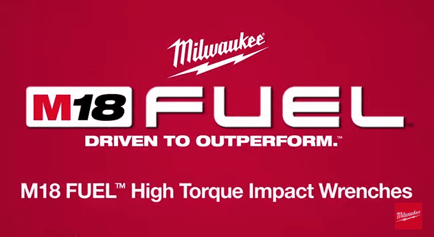 milwaukee fuel logo. milwaukee m-18 high torque impact wrenches fuel logo