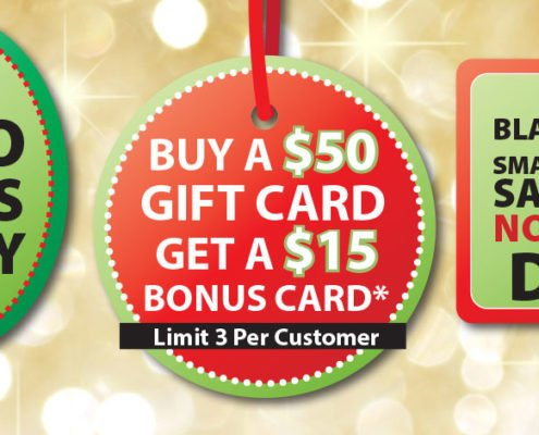 Neu's Gift Card Bonus Sale Black Friday Small Business Saturday