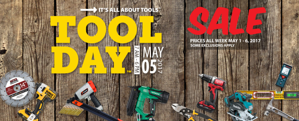 Neu's Tool Day May 5, 2017 Salle Prices all week may 1-6, 2017
