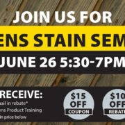Neu's sikkens stain seminar June 26