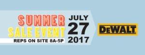 July Summer Sale Event DeWalt