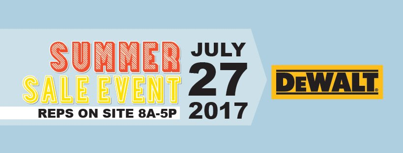 July Summer Sale Event DeWalt