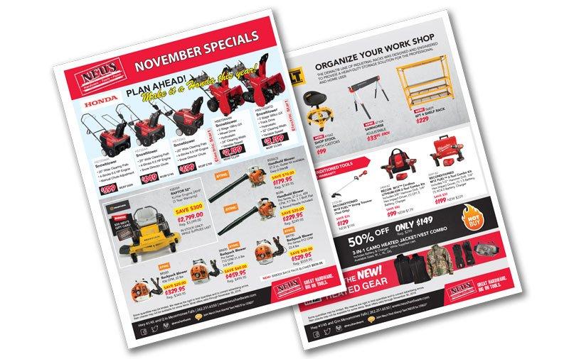 neu's november specials :: featuring stihl, milwaukee tool, honda ...