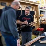 Vesper Guitars at Neu's Woodworking Show