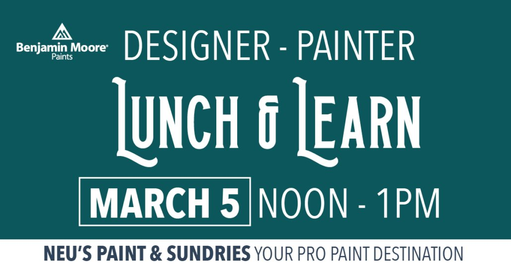 Benjamin Moore Workshop lunch and learn
