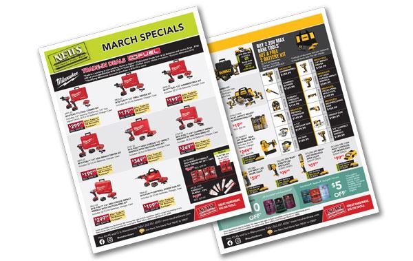 Neu's March Specials