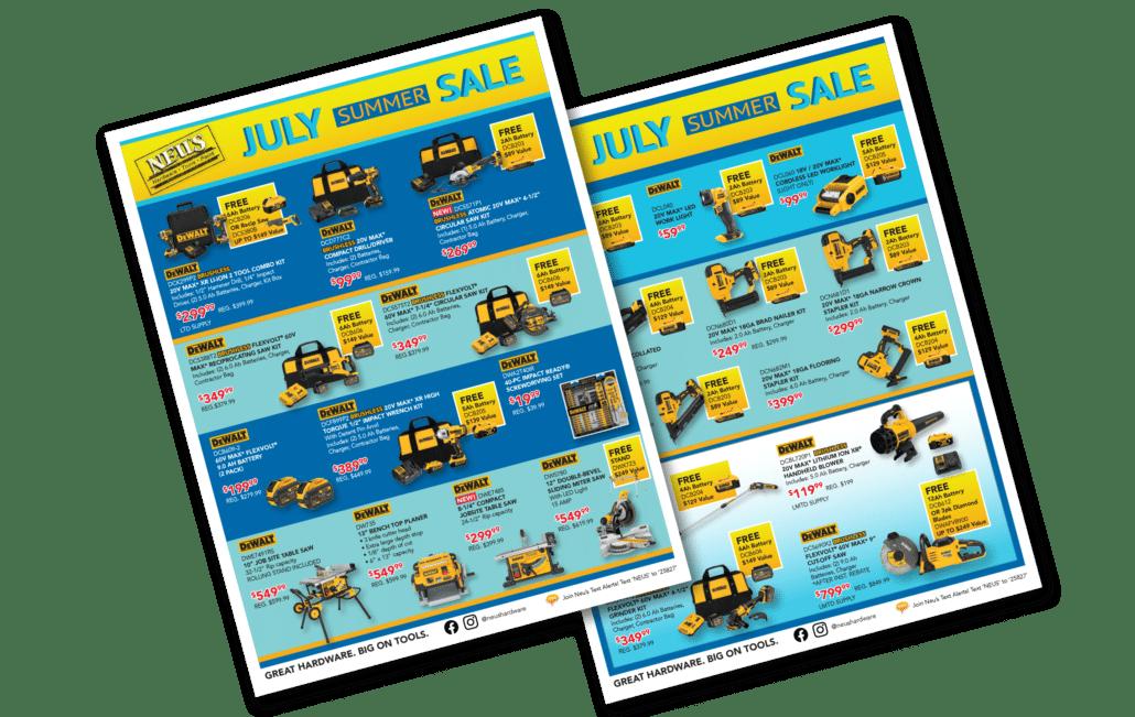 July Summer Sale Flyer