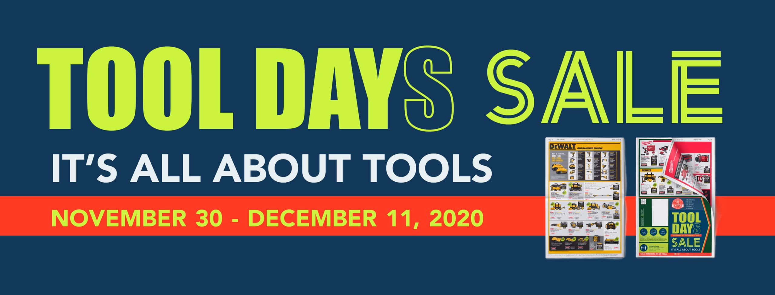 Neu's Tool Day Sale December 2020