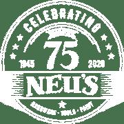 Neu's 75 Year Anniversary Logo