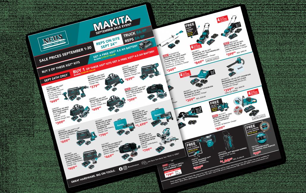 Makita September Sale Event Icon